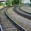 Stock Photo: Rails of a tram way