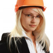 Young attractive female engineer — Stock Photo