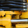 Hydraulic elements of the heavy building bulldozer 2 - Stock fotografie