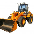 The heavy building bulldozer of yellow color — Stock Photo