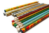 Set of sparkling celebratory pencils — Stock Photo