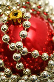 Red glass sphere for a New Year's fur-tree — Foto de Stock