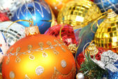 Christmas ornaments of different color in the form of glass 2 — Stock Photo