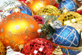 New Year's ornaments of different color in the form spheres 3 — Photo