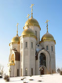 Kind on an orthodox temple of all sacred in Volgograd 6 — Stock Photo