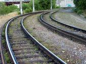 Rieles de tranvía forma — Foto de Stock