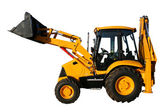 The new universal bulldozer of yellow color — Stock Photo