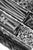 Bolts, nuts and screws — Stock Photo