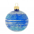 Christmas decoration, blue ball — Stock Photo
