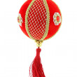 Christmas decoration, red ball — Foto de Stock