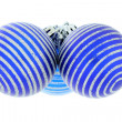 Christmas decoration, blue ball — Stock Photo #15405957