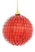 Noel dekorasyon, kırmızı top — Stok fotoğraf