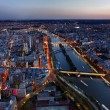 Aerial View of Paris at the Sunset — Stock Photo