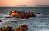 Sunset in Brittany — Stock Photo
