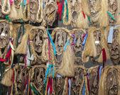 Romanian Wooden Masks — Stock Photo