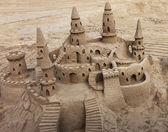 Castelo de areia — Foto Stock