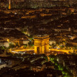 Pairs by Night-  Aerial View - Stock Photo