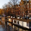 Amsterdam Floating Houses — Stock Photo