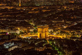 Pairs by Night- Aerial View — Stock Photo