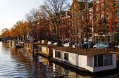 Amsterdam Floating Houses — Stock Photo