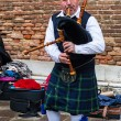 Stock Photo: Scottish Bagpiper