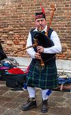 Scottish Bagpiper — Stock Photo