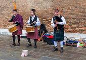 Scottish Musical Band — Stock Photo