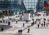 Crowd in La Defense — Stock Photo