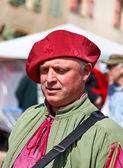 Medieval Street Performer — Stock Photo