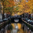 Amsterdam Canal in Autumn — Stock Photo