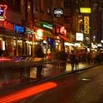 Dam Street in the Night — Stock Photo