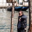 Profile of Gondolier — Stock Photo #17594225