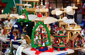 Detail of a Christmas Market Stand — Stock Photo