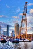 El puerto de rotterdam — Foto de Stock