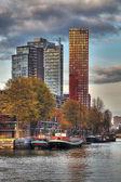 Rotterdam sylwetki na tle nieba — Zdjęcie stockowe
