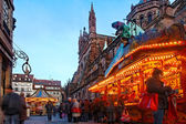 Christmas Market in Strasbourg — Stock Photo
