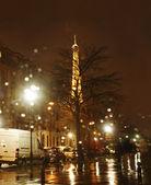 Rainy Night in Paris — Stock Photo