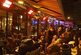 Crowd of on a French Terrace — Stok fotoğraf
