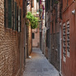 Narrow Street in Venice - Stock Photo