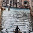 Boat on a Venetian Canal — Stock Photo