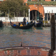 Stock Photo: Gondoliers on Grand Canal
