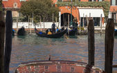 Gondoliers on the Grand Canal — Stock Photo