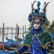 Blue Venetian Disguise - Stock Photo