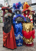 Colorful Venetian Costumes — Stock Photo