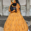 Venetian Yellow Costume - Stock Photo
