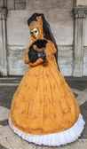 Venetian Yellow Costume — Stock Photo