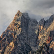 Royalty-Free Stock Photo: Peaks and Clouds in Dolomites Mountains
