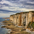 Stock Photo: Cliffs of Etretat
