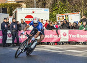 The Cylist Chavanel Sylvain- Paris Nice 2013 Prologue in Houille — Stock Photo
