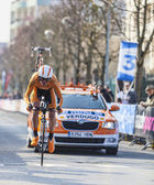 The Cylist Verdugo Gorka- Paris Nice 2013 Prologue in Houilles — Stock Photo